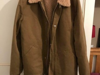 River Island Brown Borg Jacket - Medium. Twickenham, London