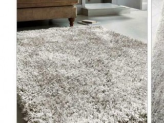 Silver/grey soft shimmer rug.Kentish Town, London