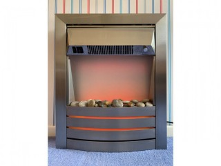Brushed Stainless Steel Electric Fire