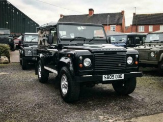 2009 Land Rover 90 Defender 2.4 tdci County Van in Black Excellent Condition