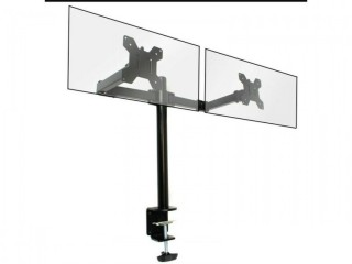 """Brand New excellent condiiton in Box 10""""- 27"""" Fully Adjustable Double LED LCD Monitor Bracket Dual Arm Desk Stand Stable"""