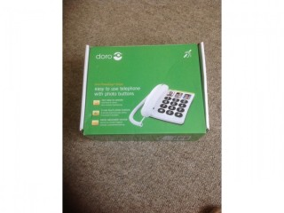 Doro easy to use landline telephone with large buttons good condition