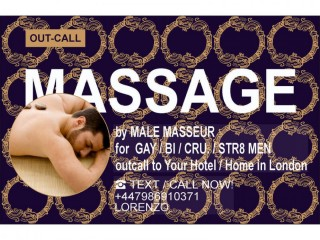 MASSAGE by MALE MASSEUR FOR MEN - OUTCALL TO U`R HOME/HOTEL IN LONDON