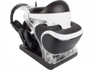 Excellent condition Venom PS4 Controller and Move Charging Station with VR Headset Storage (PS4)