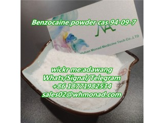 Benzocaine powder cas 94-09-7 in stock and free customs