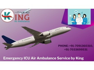 Emergency Air Ambulance in Bhopal by King for Safe Transfer