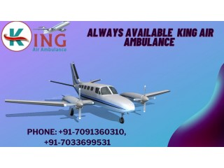 Air Ambulance in Varanasi with Healthcare Support by King