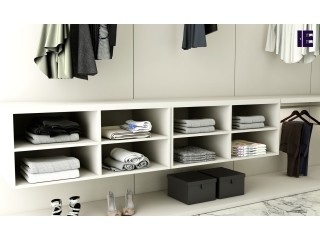 Wardrobe with Shoe Rack | Top of Wardrobe Storage | Internal Wardrobe Storage | Built in Wardrobe Storage | Inspired Elements