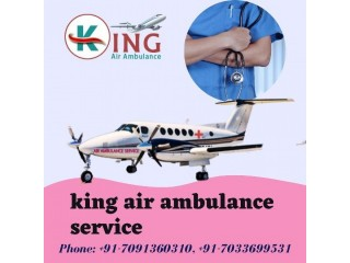 Comprehensively Accessible Air Ambulance Service in Delhi from King Air