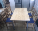 wood-dining-table-4-chairs-in-vgc-tclrc-31560-romford-london-small-1