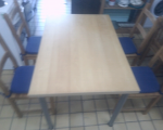 wood-dining-table-4-chairs-in-vgc-tclrc-31560-romford-london-small-0