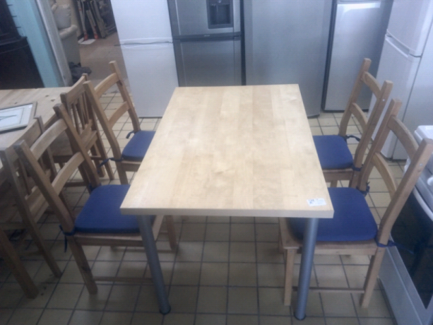 wood-dining-table-4-chairs-in-vgc-tclrc-31560-romford-london-big-1