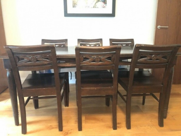 solid-dark-oak-dining-table-6-chairs-hackney-london-big-0