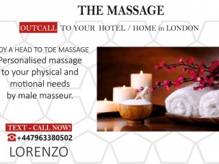 MASSAGE LONDON at Your HOTEL / HOME by MALE MASSEUR