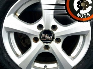 "15"" VW Golf Caddy OZ MSW alloys Michelin tyres 5x112 excel cond."