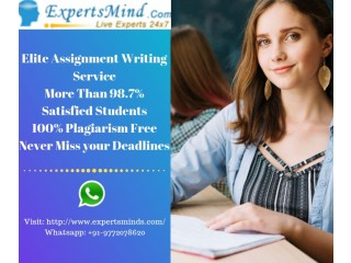 We are here to provide you with the Most Effective online Assignment Help at Expertsminds!