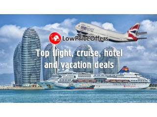 Top Low Price Deals on flights, hotels, cruises, holidays! Get them now