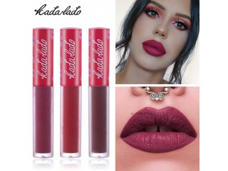 KADALADO 15 Colors Nude waterproof Lip Stick Matte Lipstick Long-Lasting moisturizing lipstick Easy to Wear Red Beauty Make Up