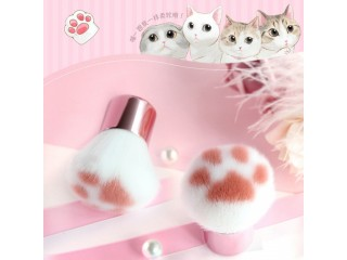 Super Cute 1pc Cat Feet Brush Blush Makeup Brush Foundation Blending Face Brush Cosmetic Beauty Tool pinceaux with PVC Tube