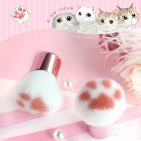 super-cute-1pc-cat-feet-brush-blush-makeup-brush-foundation-blending-face-brush-cosmetic-beauty-tool-pinceaux-with-pvc-tube-big-2