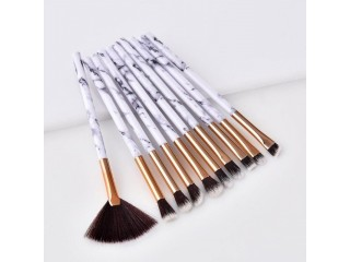 10Pcs/Set Marbling Makeup Brushes Set Marble Pattern Brush Set Eye Shadow Concealer Beauty Make Up Brush Kit Cosmetic Tools