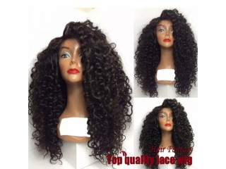 Kinky Curly Synthetic Lace Front Wigs