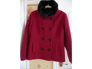 Precis Red Cashmere Blend Wool Coat