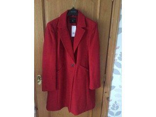 Dorothy Perkins Red Coat Size 18