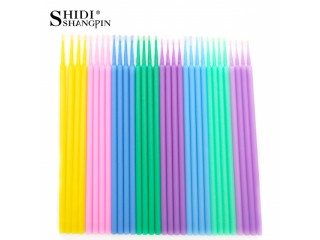 SHIDISHANGPIN 100pcs/bag Disposable Eyelash Extension Tools Individual lashes Applicators Mascara Makeup Brushes Cotton Swab
