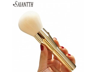 Comfortable Italy brand makeup brushes Nano super soft thick dense hair gold metal maquiagem blush powder Kabuki make up brush