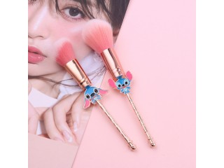 Kawaii Stitch Big Powder Blush Makeup Brush Pink Brushes Hair 1pc Foundation Brush Face Beauty Tool Professional Cosmetic
