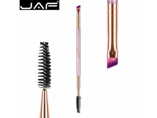 JAF 1 PCS Dual Ended Eye Makeup Brush for Eyebrow, Angled Eyebrow Brush Plus Eye Brow Brush Comb Beauty Make Up Tool D041V-Z