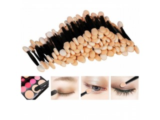 30PCS Disposable Eyeshadow Brushes Dual Sided Sponge Nylon Sets & Kits Eye Shadow Brushes Makeups For Cosmetic Applicator Makeup