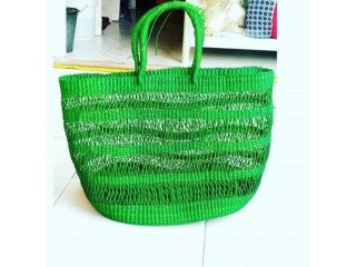 Colorful Tote Ladies Hand Woven Bag