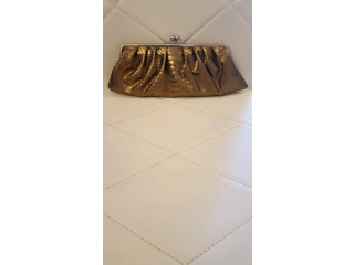 STYLE & CO LADIES CLUTCH/EVENING GOLD BAG.