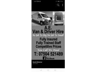 100% reliable,  Man and van
