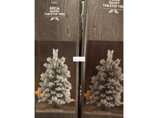 "FOR SALE A PAIR OF ""NEXT"" TABLE TOP CHRISTMAS TREES 60cm - ONLY ONCE USED!"