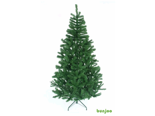 Christmas tree with lights tinsel ball balls,  5.5ft