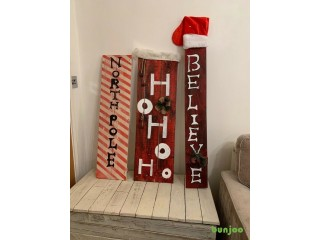 Handmade Christmas signs