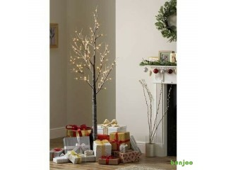 LED Birch Tree with Frosting
