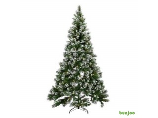 7ft Pre-lit Snow Tipped Christmas Tree - Green