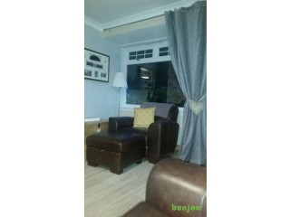 SOFA + 2 CHAIRS AND STORAGE FOOTSTOOL. DARK BROWN. GREAT CONDITION ****BARGAIN 200*******