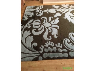 Extra Large brown and teal rug