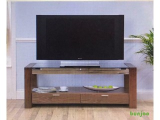 Excellent Condition Living Room Furniture, PRICE REDUCED TO GO! 3 pieces:Walnut & Glass TV Unit, Coffee Table&Side Table
