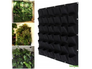 36 Pocket outdoor Vertical Greening Hanging Wall Garden Plant Bags Wall Planter